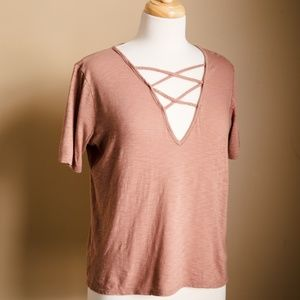 FULL TILT Essential Criss Cross Womens Tee